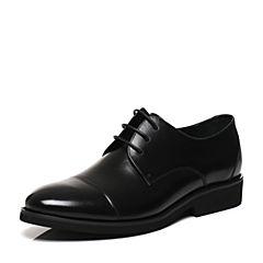 Belle/百丽春专柜同款黑色牛皮时尚商务风儒雅绅士男皮鞋4TW01AM7