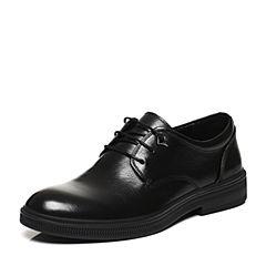 Belle/百丽春专柜同款黑色时尚正装牛皮男皮鞋4SZ01AM7
