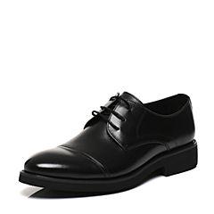 Belle/百丽2017春黑色商务正装牛皮男皮鞋21201AM7