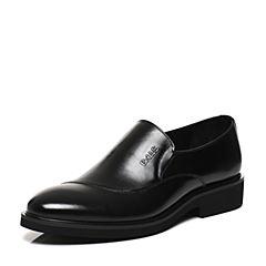 Belle/百丽2017春黑色商务正装牛皮男皮鞋21203AM7