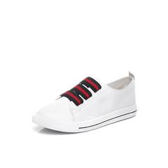 Belle/百丽春专柜同款白/红牛皮革女休闲鞋Q8W1DAM7