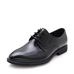Belle/百丽2017夏季黑色商务正装牛皮男皮鞋21801BM7
