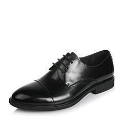 Belle/百丽2017夏季黑色商务正装牛皮男皮鞋21803BM7