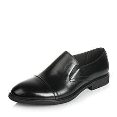 Belle/百丽2017夏季黑色商务正装牛皮男皮鞋21804BM7