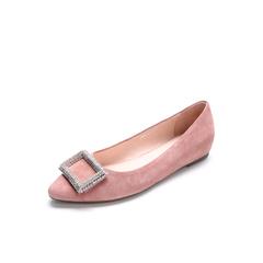 Belle/百丽春专柜同款粉色羊绒皮女皮鞋Q9J1DAQ7