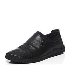 Belle/百丽春季专柜同款牛皮套脚男休闲鞋4WB01AM7