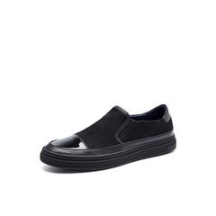 Belle/百丽秋季专柜同款黑色牛皮男皮鞋4YU02CM7