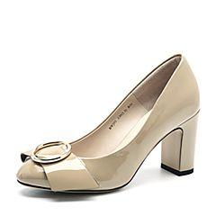 Belle/百丽秋季专柜同款漆皮牛皮女单鞋BWJ01CQ7