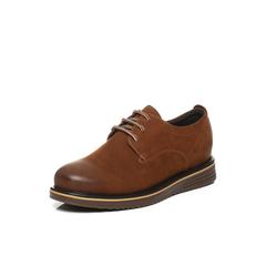 Belle/百丽2017秋季新品专柜同款棕色牛皮男皮鞋B4601CM7