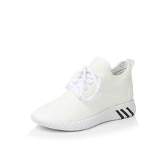 Belle/百丽2017秋季专柜同款白色弹力布/滴胶/TPU运动风女休闲鞋R6T1DCM7