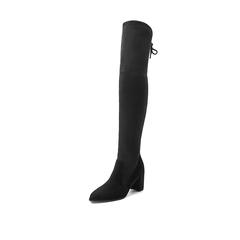 Belle/百丽冬季专柜同款黑色羊绒皮高筒靴女皮靴BRY80DC7