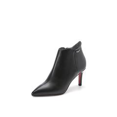 Belle/百丽2017冬季新品专柜同款黑油皮牛皮女短靴BMW52DD7