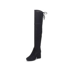 Belle/百丽2017冬季新品专柜同款黑色高筒靴女皮靴BMX80DC7