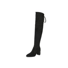 Belle/百丽2017冬黑色优雅时尚百搭羊绒皮女长靴BRY81DC7
