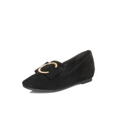 Belle/百丽秋季专柜同款黑色羊绒皮女休闲鞋R8B1DCM7