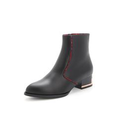Belle/百丽2017冬专柜同款同道百丽联合款黑色休闲牛皮女短靴3N340DD7