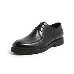 Belle/百麗春季黑色商務正裝牛皮革男皮鞋53102AM7