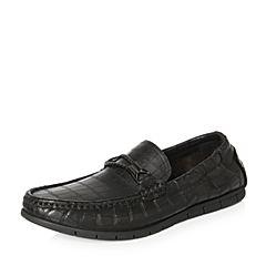 Belle/百丽2018春季新品专柜同款黑色牛皮革男皮鞋5QB01AM8
