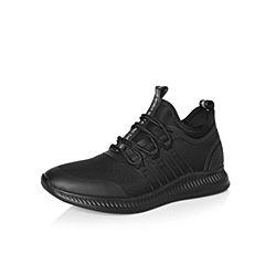 Belle/百丽2018春季新品专柜同款黑色编织布男休闲鞋5PK01AM8