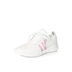 Belle/百丽2018春季新品专柜同款白色运动风弹力布/胶片女休闲鞋S1R1DAM8