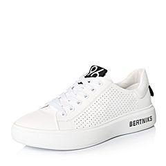 Belle/百丽2018春季新品专柜同款白/黑运动风牛皮革女休闲鞋S1Q1DAM8