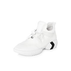 Belle/百丽2018春季新品专柜同款白色运动风弹力布/胶片女休闲鞋S2K1DAM8