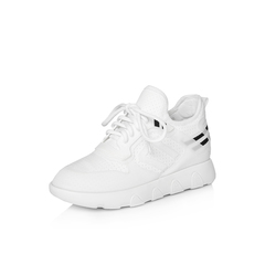 Belle/百丽专柜同款白色运动风弹力布/滴?#21495;?#20241;闲鞋S2D1DAM8
