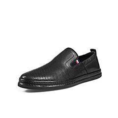 Belle/百丽商场同款黑色牛皮革男皮鞋5RL02BM8