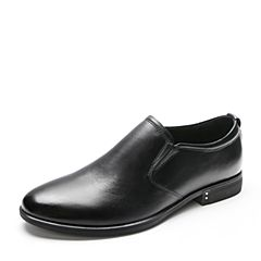Belle/百丽2018春季新品黑色牛皮商务正装男皮鞋20330AM8(领红包更优惠)