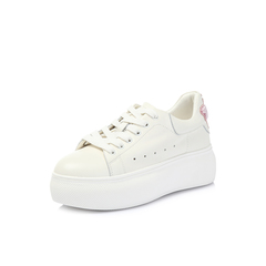 Belle/百丽专柜同款白/粉牛皮女休闲鞋S5L1DAM8