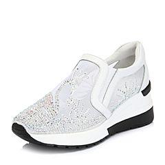 Belle/百丽专柜同款网布/牛皮革运动风女休闲鞋S6M1DAM8