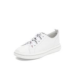 Belle/百丽2018秋专柜新款白色牛皮革女休闲小白鞋板鞋S7D1DCM8