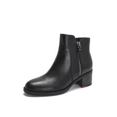 Belle/百丽2018冬专柜新款油皮牛皮革女短靴BWM43DD8