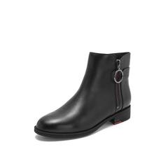 Belle/百丽2018冬季专柜新款牛皮革女短靴T1M1DDD8