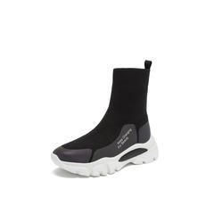 Belle/百丽2018冬季专柜新款飞织/胶片女旅游靴短靴T2F1DDD8