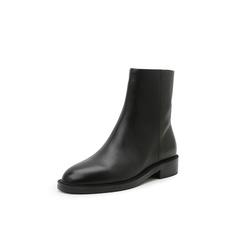 Belle/百丽2018冬季专柜新款油皮牛皮革女中靴BG160DZ8