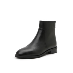 Belle/百丽2018冬季专柜新款油皮牛皮革女短靴BG140DD8
