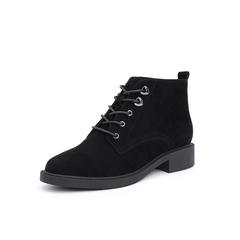 Belle/百丽冬季专柜新款羊绒皮革马丁靴女皮靴T3H1DDD8