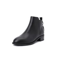 Belle/百丽2018冬季专柜新款油皮牛皮革女及踝靴BJ840DD8