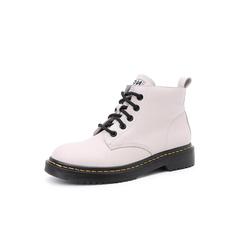 Belle/百丽马丁靴2018冬季新款牛皮革系带帅气女短靴17258DD8