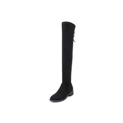 Belle/百丽瘦瘦靴2018冬季专柜新款弹力布女过膝靴T2W2DDC8