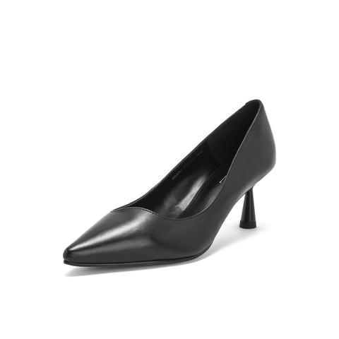 belle/百丽单鞋2019春新油羊皮革女皮鞋brxb7aq9图片