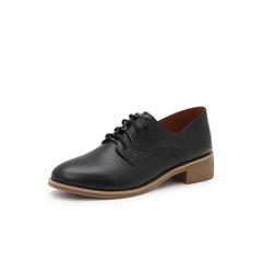 Belle/百丽英伦布洛克风单鞋2019春季新商场同款油牛皮革女皮鞋BP621AM9