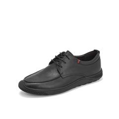 Belle/百丽新款商务休闲鞋2019春季商场同款?#25512;?#29275;皮革男皮鞋B1214AM9