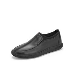 Belle/百丽新款2019春季商场同款牛皮革/弹力布男皮鞋B1212AM9