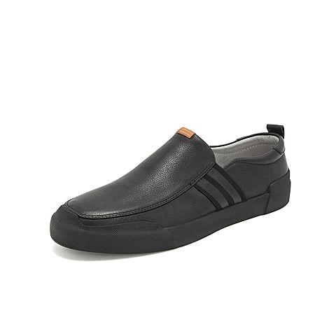 belle/百丽新款休闲鞋2019春季专柜同款牛皮革男皮鞋5yc02am9图片