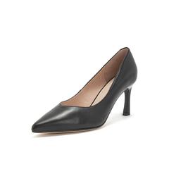 Belle/百丽高跟鞋2019春商场同款新羊皮革细跟尖头OL通勤女单鞋T4N1DAQ9