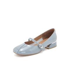 Belle/百丽玛丽珍鞋2019春商场同款新漆牛皮革低跟女单鞋T4G1DAQ9