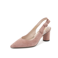Belle/百丽2019年春季新商场同款羊绒皮革女皮凉鞋T4B1DAH9