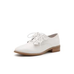 Belle/百丽2019春季商场同款新牛皮革英伦风满帮女单鞋T4M1DAM9